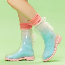 Personalized Transparent Rain Rubber Boots