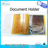 Folding plastic portfolio case document legal size