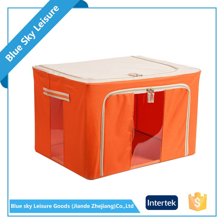 Latest Promotion Price Portable Mobile Foldable Oxford Fabric Living Box Storage Bin