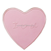 Hot Sale Yellow Heart shape PU Gel Non-slip Sticky Dashboard Car Mats As Gift