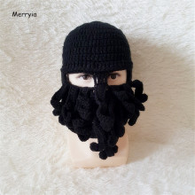 Merryia Funny Winter Warm Knit Octopus Ski Face Mask Beanie Hat