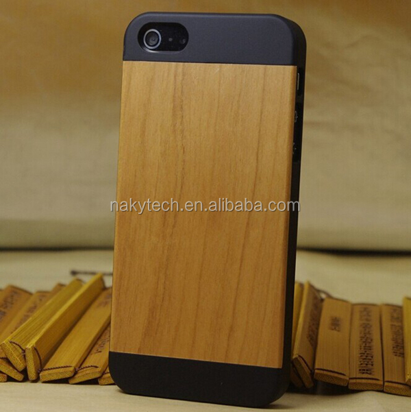 Wood + PC Case For Apple iPhone 5 5s,Bamboo PC Phone Case For iPhone5c walnut wood