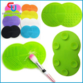 8 Color Makeup Brush Cleaner Mat Pad with Sucker Silica Scrubber Board