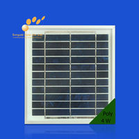 poly mini solar panel 4w price made in china