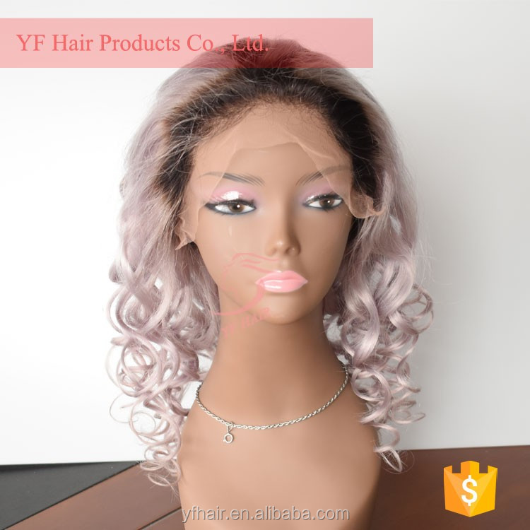 Factory price virgin grey thick lace wig cheap brazilian hair wigs for black women