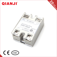 QIANJI DC Control AC Load Single Phase Solid State Relay 12V 10A 20A