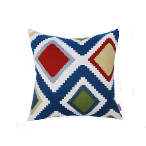 Top quality comfortale geometry printed Indian cotton canvas throw pillows decorative