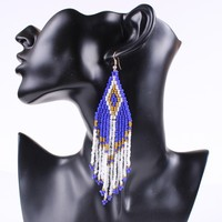 fashion free seed bead earring designs EZ0496