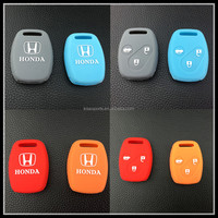 Custom silicone rubber remote car key case for honda fit 3 button key shell car