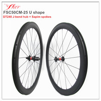 Road racing carbon bicycle clincher wheels 50mm 25mm tubeless compatible 20H/24H UD matte Sapim aero spokes black