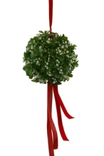 artificial mistletoe kissing ball