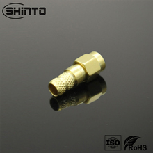 SMA Male Connector Gold Plating