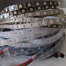 NEW 1M/2M/5M ws2813 5V RGB Addressable LED Strip Black&White PCB 30/60/144 leds/m 2813 IC Built-in