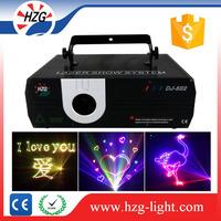 China Alibaba wholesaler animated graphics pure beam show projector 1W RGB 1watt laser light for Logo company advertising