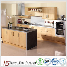 Wood Veneer Melamine MDF Kitchen Cabinet Design Made In China
