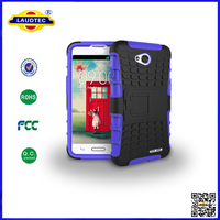 Heavy Duty Tough Shockproof Stand Hard Mobile Phone Case Back Cover for LG Optimus L70