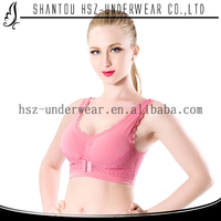 B8918 Good quality popular sexy front opening bra wholesale seamless sports bra young lady lace camisole top underwear sexy bra