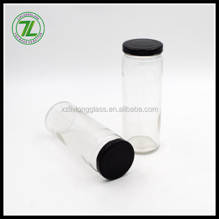 straight sided designs and twist off lid sealing type 8oz juice bottle 250ml glass bottle for fruit vinegar