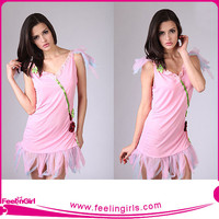 hexinfashion pink dress rainbow fairies costumes