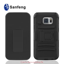Robot hybrid combo smart phone cover case for Galaxy S6 G920 with holder