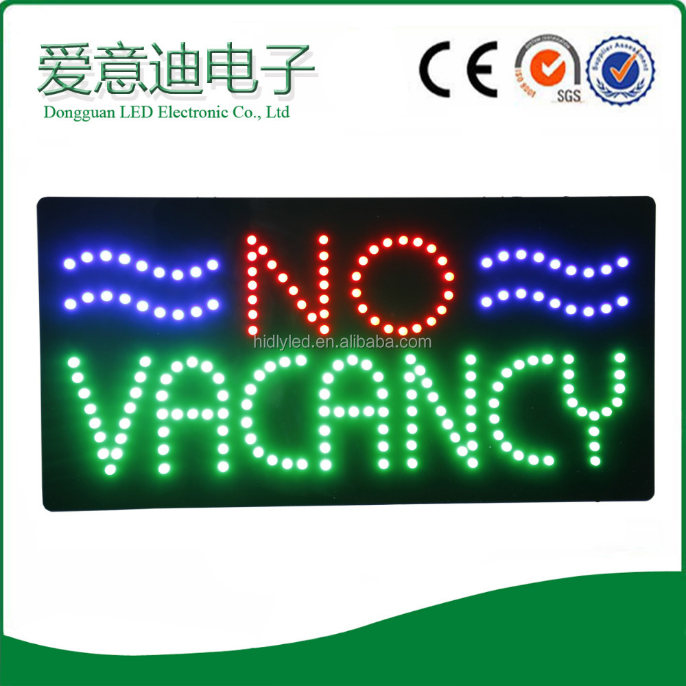 "Good Aftersale Service ""NO Vacancy"" Acrylic LED Signs"