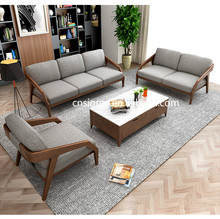 simple design durable living room <strong>furniture</strong> classic wood sofa