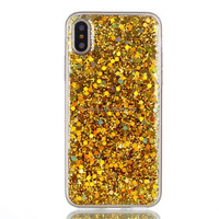 Phone Case for Apple iphone X Case Bling Bling Glitter Rubber TPU Gel Soft Mobile Phone Cases Cover for iPhoneX