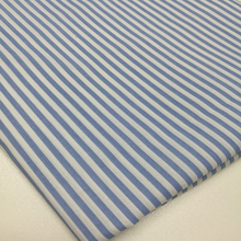 Stripe pinstripe blue white 65 polyester 35 cotton fabric wholesale poplin fabric for girl's shirt