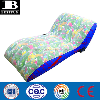 Custom Margaritaville oversized Single Lounger inflatable fold up air sun beach relaxing couch plastic sofa chair