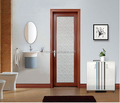 Double glazed frosted glass bathroom door with blinds inside
