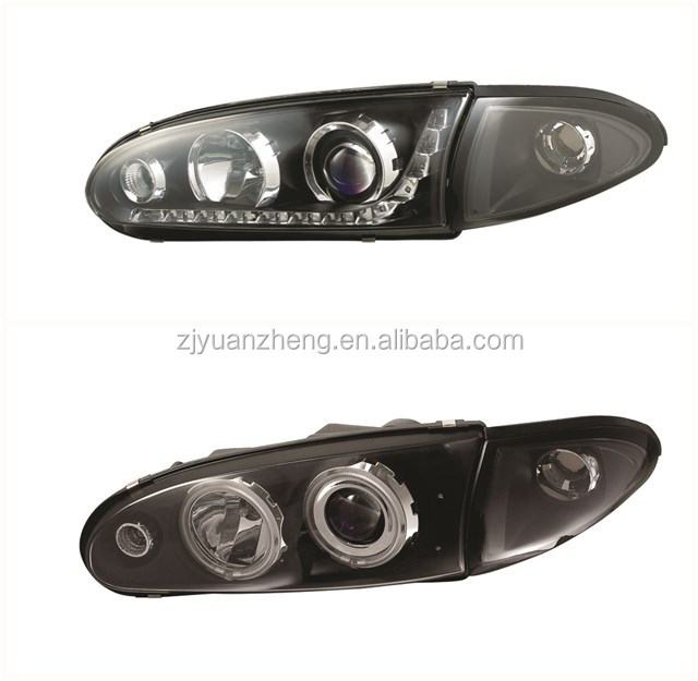 Proton Wira 1992-UP LED Angel Eyes Head Lamp Assembly Black Housing