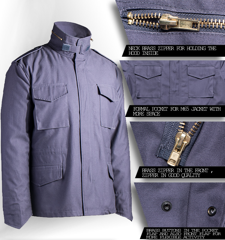Wholesale M-65 Military Army Tactical Blue Jacket