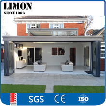 wholesale aluminium frame glass bi folding door price for sunroom balcony