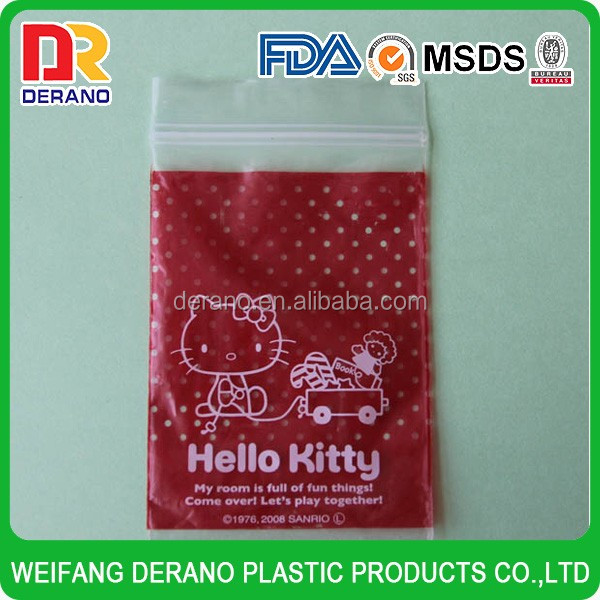Printed LDPE cute ziplock bag