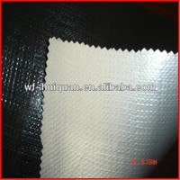 PE fabric black / white stripe tarpaulin