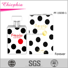 2016 Chicphia Forever 100ml glass bottle spray perfume /long time fragrance from OEM ODM factory