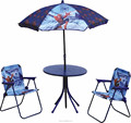 Folding Chair And Table Set With Umbrella For Kids Catoon