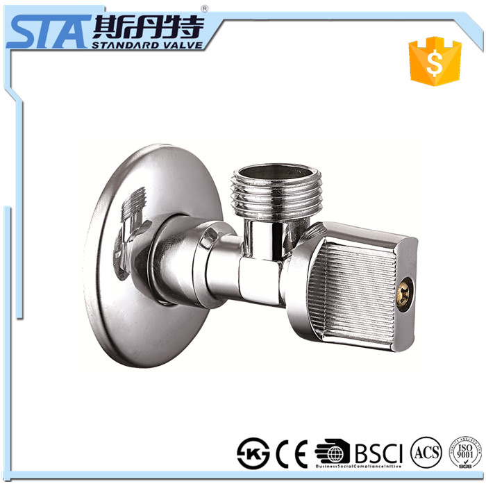 ART.3001 Kitchen Outdoor Garden Toilet Bathroom Easy to Install Water Stop Brass Chrome Angle Valve Faucet Mount Filters