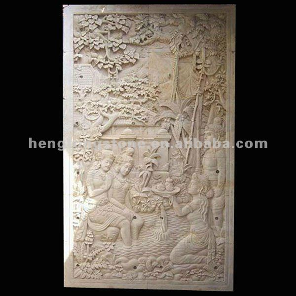 Stone Carving Ramayana wall panel Relief