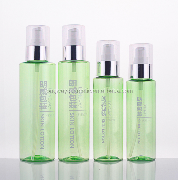 Plastic PET Bottle with Sprayer for Personal Care Lotion Bottle 100ml 120ml 150ml 200ml