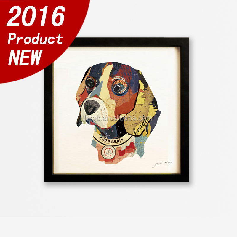 Guansheng CH012 2016 new items framed 3D Collage art wall art