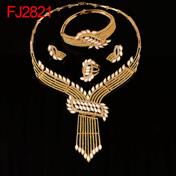 free shipping african gold palted fashion bridal jewelry set wholesale jewelry set FJ2816