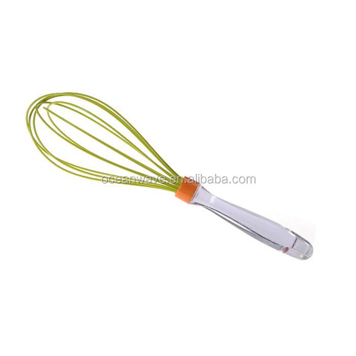 12 inch manual ice cream beater and silicone egg whisk with plastic handle