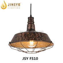 Large styles pendant lightings etch decoration light with cage for bar for coffee room for home