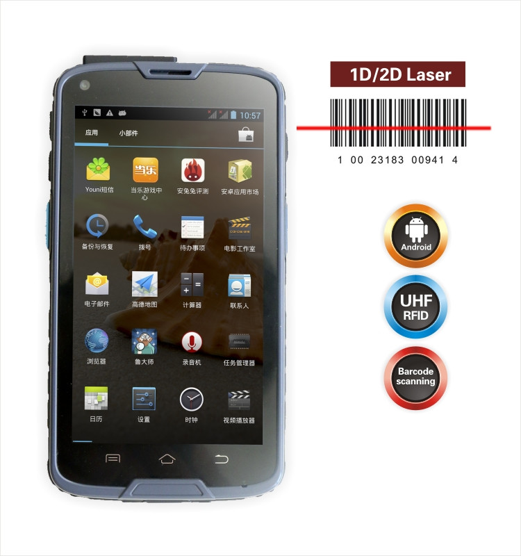 5inch wifi android pda 2D barcode scanner smartphone