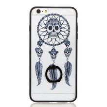 Skull Butterflies Mobile Phone Accessories Cover TPU PC Case for iPhone 7, for iPhone 7 Case Hybrid