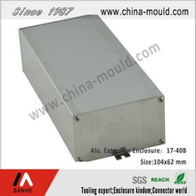 aluminum extrusion enclosure with front and rear panels