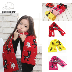 Modern style stock fashion winter christmas fake cashmere neck child knitted scarf