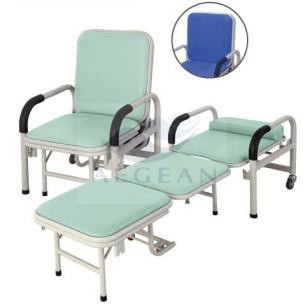 AG-AC001 medical hospital accompany equipment movable folding chair sleeping chair