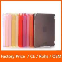 Wholesale Stylish Clear Transparent PC Hard Back +Smart Cover Partner Matte Case for iPad Air